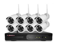 KAMERAK.cz Bezdrátový 8 kamerový set WiFi IP PRO-6108-1080p, 2MP, CZ menu