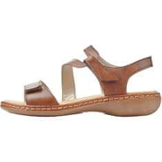 Rieker Dámske kožené sandále 659C7-24