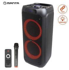 Manta SPK5310 zvočnik, karaoke, vgrajena baterija, Bluetoth, USB, MP3, radio FM, disco LED, TWS, 5000W P.M.P.O