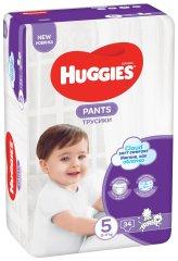 Huggies Pants Jumbo 5 (12-17 kg) 34 ks