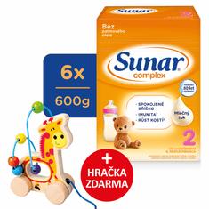 Sunar Complex 2, pokračovacie dojčenské mlieko, 6x600g