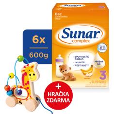 Sunar Complex 3 banán, 6 x 600 g