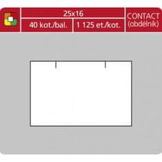 Motex Etikety 16x23 pre1623 cenovka biela