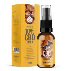 Mentis 10% CBD Skořice sprej