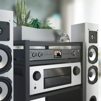 erős hama dit2006bt rádióvevő Bluetooth streaming lcd kijelző usb felvétel usb töltés fm dab dab plus tuner lan wlan undok applikáció upnp internetes rádió podcastok hallgatása