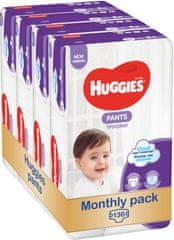 Huggies Pants 5 Jumbo (12-17 kg) 136 ks (4x34 ks) - Měsíční balení