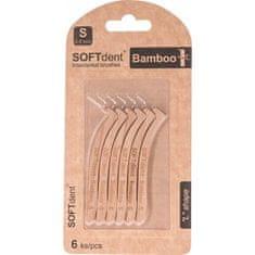 "SOFTdent BAMBOO medzizubná kefka ""L"" 0,5 mm, 6 ks"