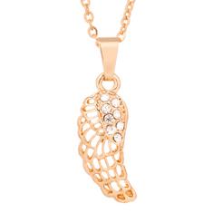 DARKA Náhrdelník Andělské křídlo s krystaly NAHBI0031 Bižuterie