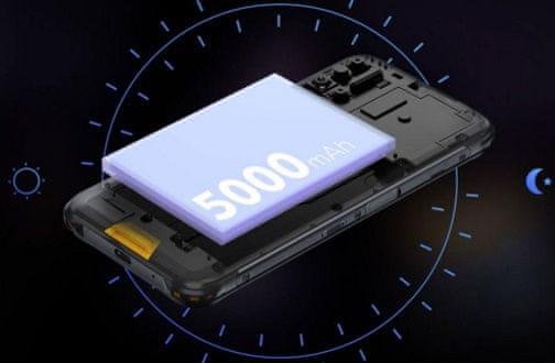 Umidigi Bison odolný telefon vysoká kapacita baterie 5000mAh, dlouhá výdrž čtyřnásobný fotoaparát 48 + 16 + 5 + 5 Mpx 24 Mpx selfie kamera noční vidění NFC platby SONY fotoaparát  18W rychlonabíjení vysílačka PTT SOS tlačítko odolnost IP68 IP69K nejvyšší krytí telefonu Gorilla Glass 3 výkonný odolný telefon IPS displej MediaTek Helio P60 6GB RAM 128GB ROM velké úložiště