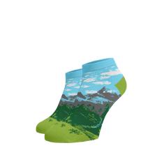 BENAMI Veselé kotníkové ponožky Hory Bavlna 35-38
