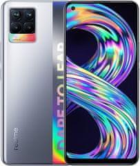 realme 8 pametni telefon, 6GB/128GB, Cyber Silver