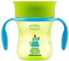 Chicco kubek niekapek Perfect 360 z uchwytami, 200 ml, zielony 12m+