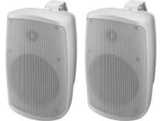 Monacor WALL-05SET/WS Aktívny dvojpásmový stereo reproduktorový systém, 2 x 30 W, 13 cm