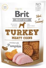 Brit Jerky Turkey Meaty Coins 12x 80g
