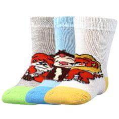 Fuski - Boma ponožky Filípek 01 ABS Barva: mix A - kluk, Velikost: 14-17 (9-11)