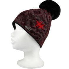 Fuski - Boma čepice Mokka Barva: černá/červená, Velikost: uni