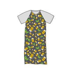 Fuski - Boma Seeking noční košile krátký rukáv Barva: PIVO/ŠEDÁ/CELOTISK, Velikost: L