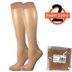 Fuski - Boma podkolenky NYLON knee-socks SÁČEK 20 DEN / 2 páry Barva: beige, Velikost: uni