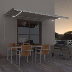 Vidaxl Automatická markýza LED a senzor větru 500 x 350 cm krémová