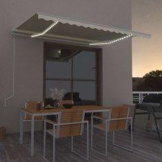 Vidaxl Automatická markýza LED a senzor větru 450 x 350 cm krémová