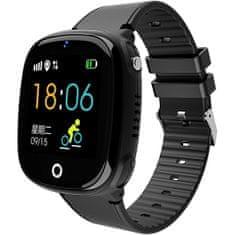 Wotchi Dětské Smartwatch HW11 s GPS a fotoaparátem - Black