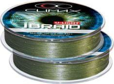 Climax Pletená šnúra Climax iBraid U-Light zelená oliva 0,08mm/6kg/100m