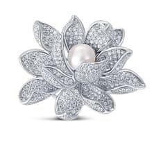 JwL Luxury Pearls Prekrásna brošňa s perlou 2v1 Lotosový kvet JL0697