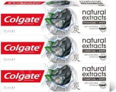 Colgate Naturals Charcoal zobna pasta, 3x 75 ml