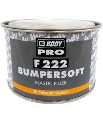 HB BODY  222 Bumpersoft čierny 1kg + tužidlo - dvojzložkový polyesterový tmel