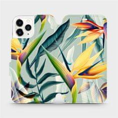 Mobiwear Flipové pouzdro na mobil Apple iPhone 11 Pro - MC02S Žluté velké květy a zelené listy