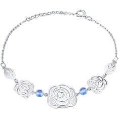 Praqia Játékos virág ezüst karkötő Rose KA6280_RH