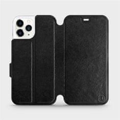 Mobiwear Flipové pouzdro na mobil Apple iPhone 11 Pro v provedení C_BLP Black&Orange s oranžovým vnitřkem