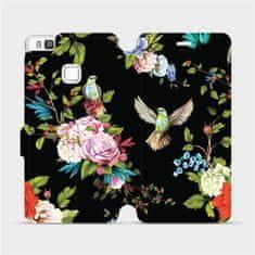 Mobiwear Flipové pouzdro na mobil Huawei P9 Lite - VD09S Ptáčci a květy