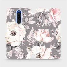 Mobiwear Flipové pouzdro na mobil Xiaomi Redmi 8 - MX06S Květy na šedém pozadí