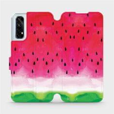 Mobiwear Flipové pouzdro na mobil Realme 7 - V086S Melounek