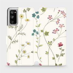 Mobiwear Flipové pouzdro na mobil Samsung Galaxy S20 FE - MD03S Tenké rostlinky s květy