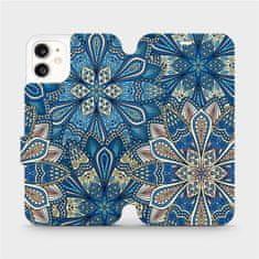 Mobiwear Flipové pouzdro na mobil Apple iPhone 11 - V108P Modré mandala květy