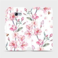 Mobiwear Flipové pouzdro na mobil Samsung Galaxy A5 2017 - M124S Růžové květy