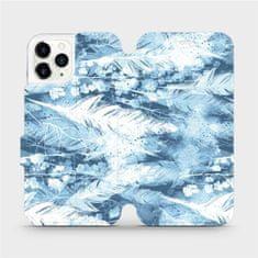 Mobiwear Flipové pouzdro na mobil Apple iPhone 11 Pro - M058S Světle modrá horizontální pírka