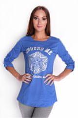 Oxyd Modré dámske tričko s potlačou OX6632 - uni