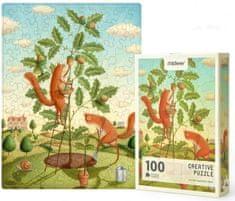 Mideer kreatívne puzzle - Veveričky na žaludi