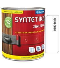 Chemolak Syntetika S2000U 0100 biela 0,6l - základná farba