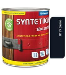 Chemolak Syntetika S2000U 0199 čierna 0,6l - základná farba