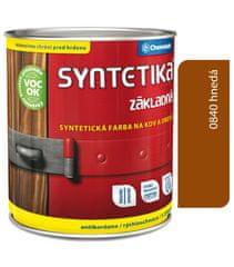Chemolak Syntetika S2000U 0840 tmavočervená 0,6l - základná farba