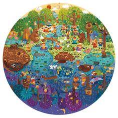 Mideer kulaté puzzle - Den v lese