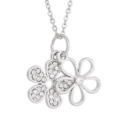 DARKA Náhrdelník Květy s krystaly NAHBI0020 Bižuterie