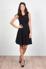 PARIS DESIGN Krátke čierne čipkované šaty - S/M