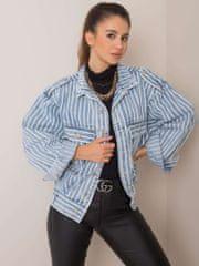 Factory Pruhovaná džínsová bunda modrej farby Lola - UNI