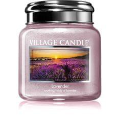Village Candle Dišeča sveča v kozarcu sivke 390 g