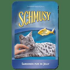 Schmusy hrana za mačke Nature Fish, tuna in sardine, 24 x 100 g